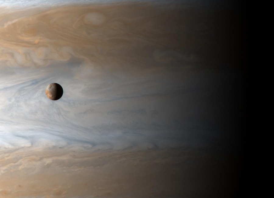 2 Io  Moon Over Jupiter