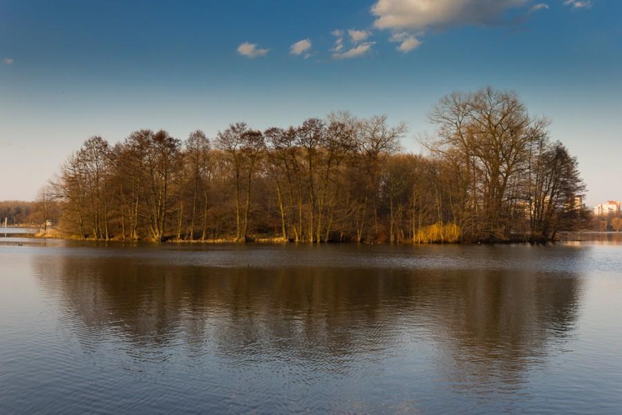 Остров на реке, Минск
