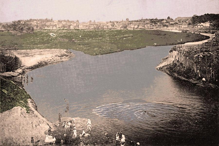 4 Немига впадает в Свислочь, Минск в начале ХХ века.jpg