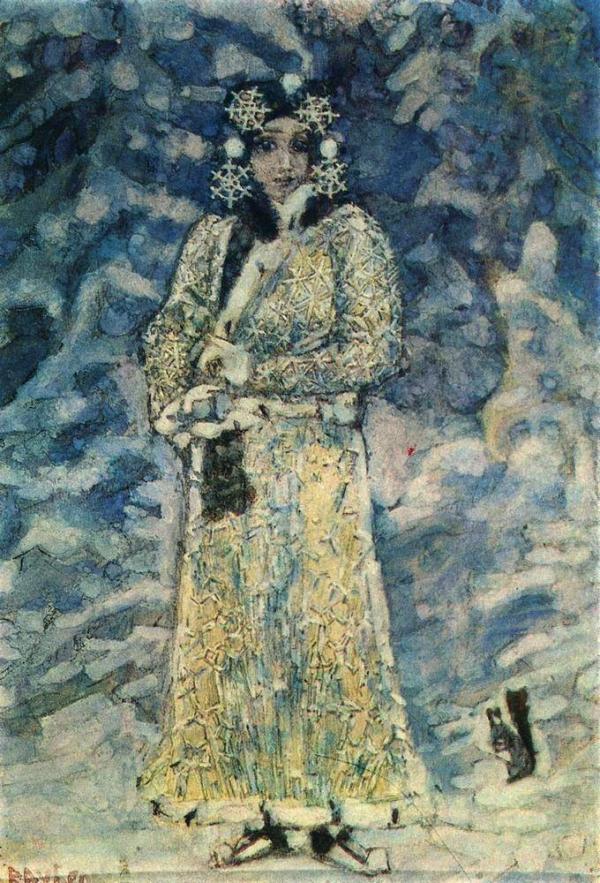 2 Врубель Михаил Александрович (1856-1910) Снегурочка. Эскиз костюма к опере Н. Римского-Корсакова. 1890 г..jpg