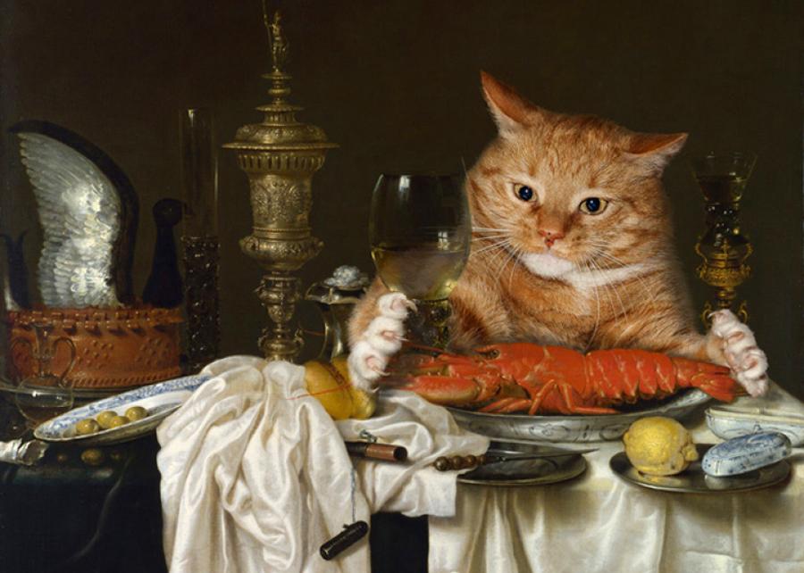2 Виллем Клас Хеда, Натюрморт с лобстером, измереямым котом.jpg