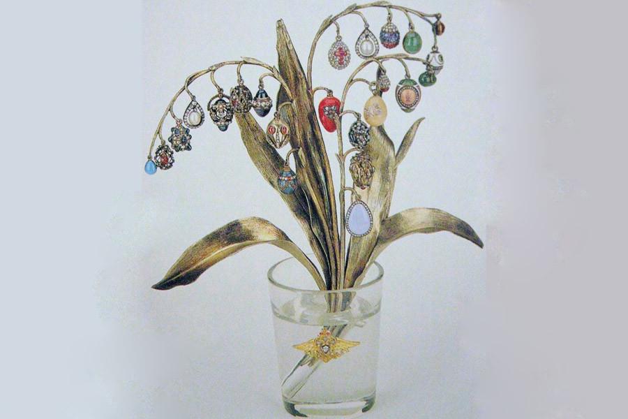 6 faberge flower bouquet vase.JPG