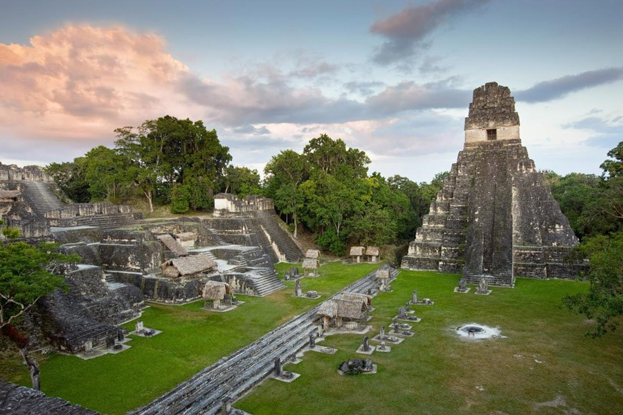1 The Temple of the Great Jaguar sits in the Grand Plaza at the ruins of Tikal..jpg