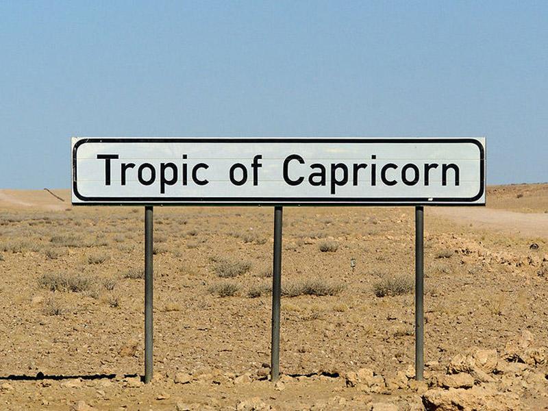 1 Тропик  Козерога, Намибия
