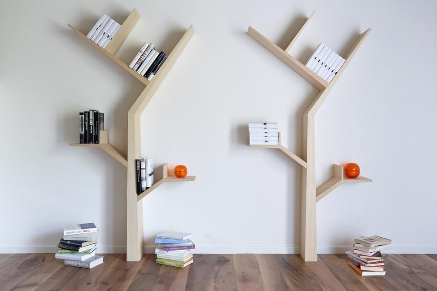 Дизайн полки в гостиную