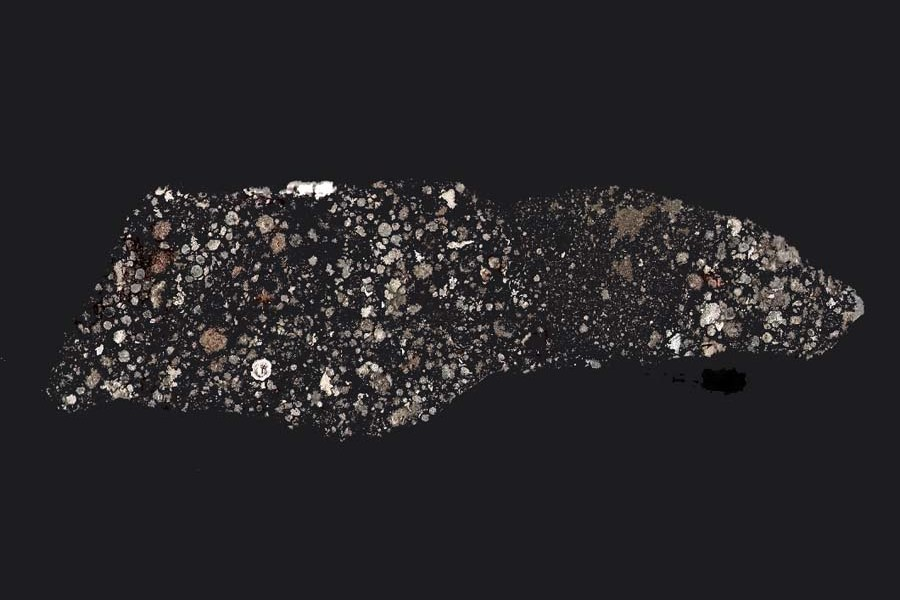 NWA_3118_meteorite Карбонатный  хондрит