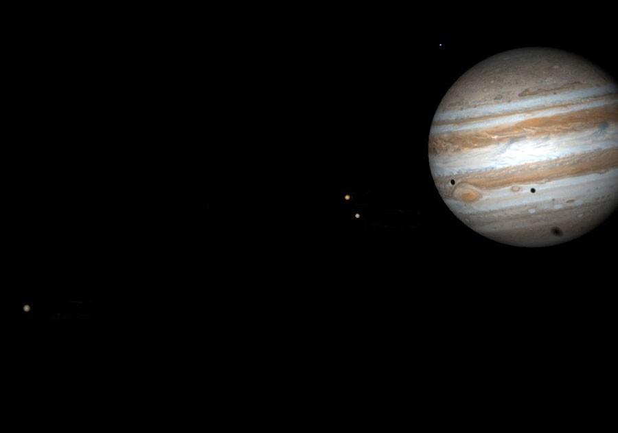 Затмение  на  Юпитере