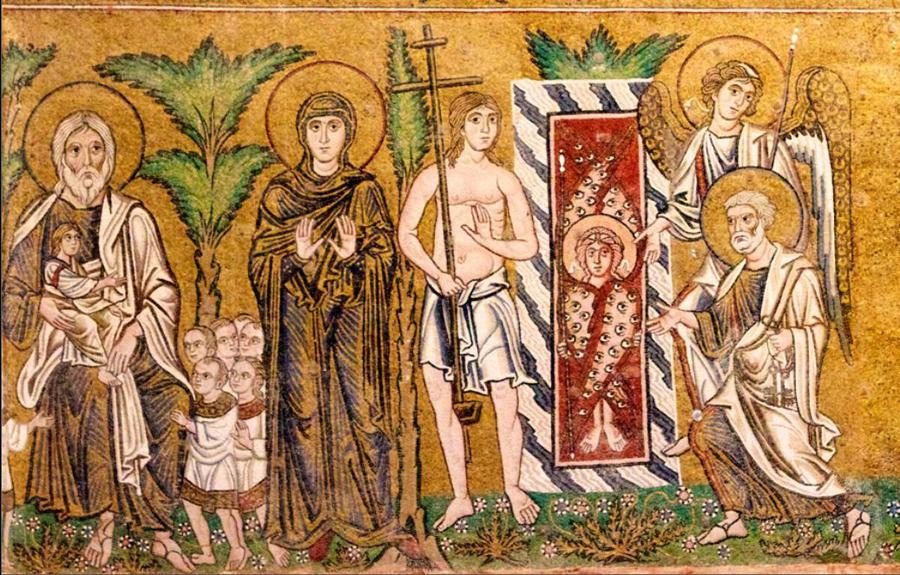4Праведники  в раю  Адам  и  Ева