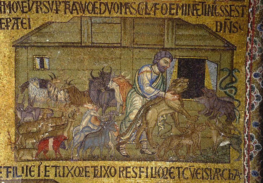 2 Ной  впускает  животных  в  Ковчег