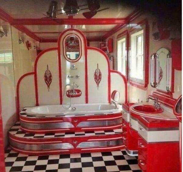 Цветотерапия в винтажных ванных.