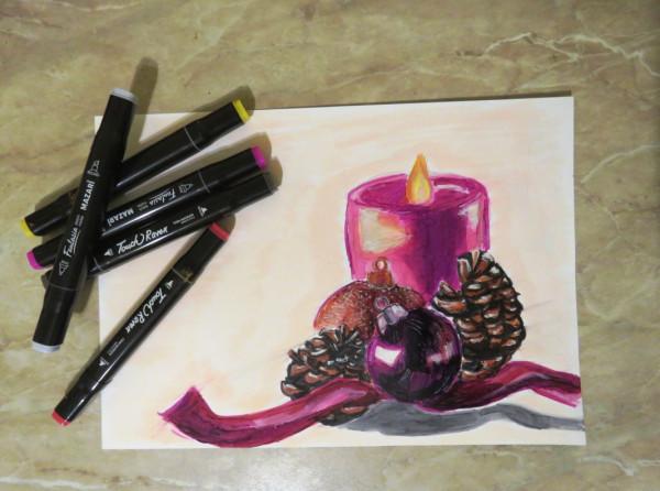 Зимние старты 2021 с Художником-онлайн и другие рисовальные затеи