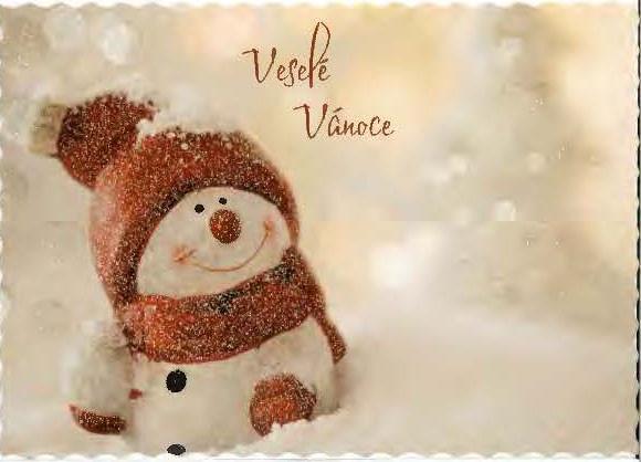 Снеговик поздравительный