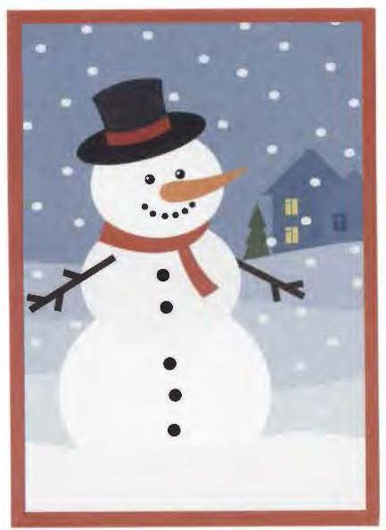 Снеговик в шляпе