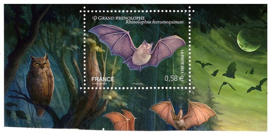 Марки Летучая мышь Франция