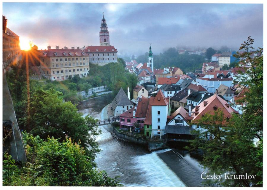 Чешский Крумлов - вид с галереи замка