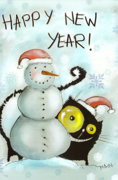 Снеговик и котик