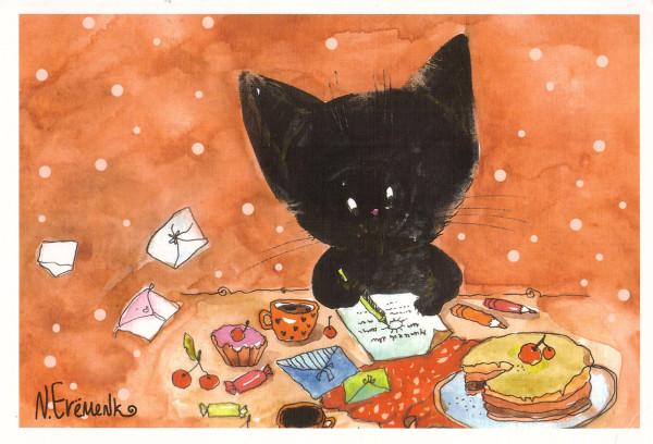 Черный котик