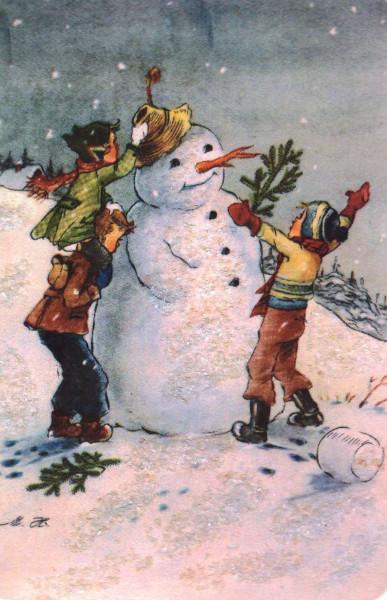 Снеговик и дети
