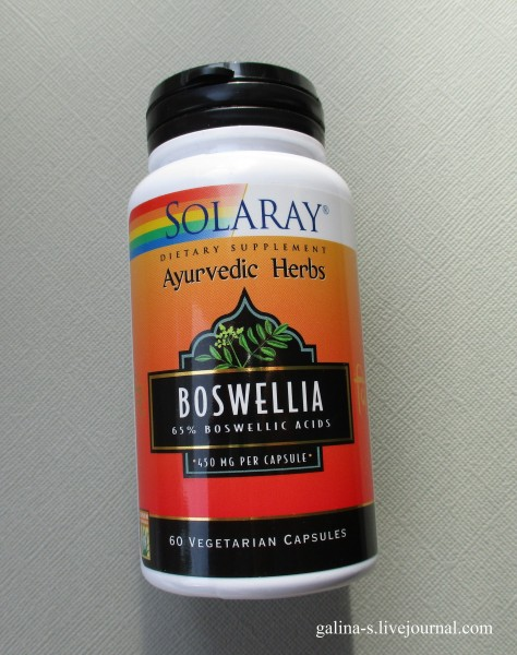 Solaray, Босвеллия и чёртов коготь от воспаления суставов, для снижения сахара