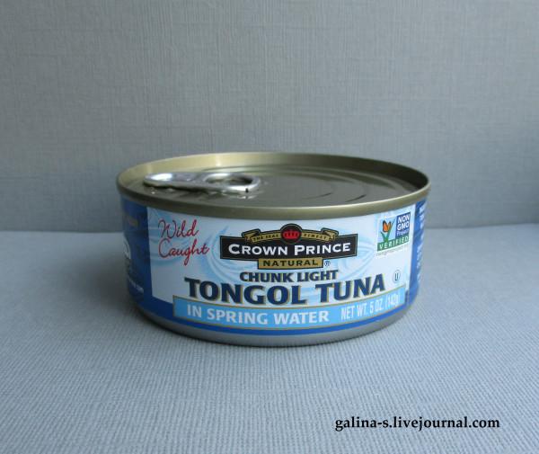 Crown Prince Natural, Кусочки светлого тунца тонгол в родниковой воде