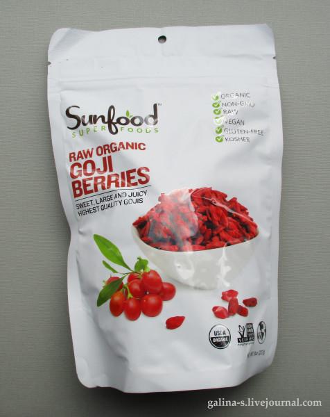 Sunfood, Ягоды годжи – источник антиоксидантов и витаминов, со скидкой 10%