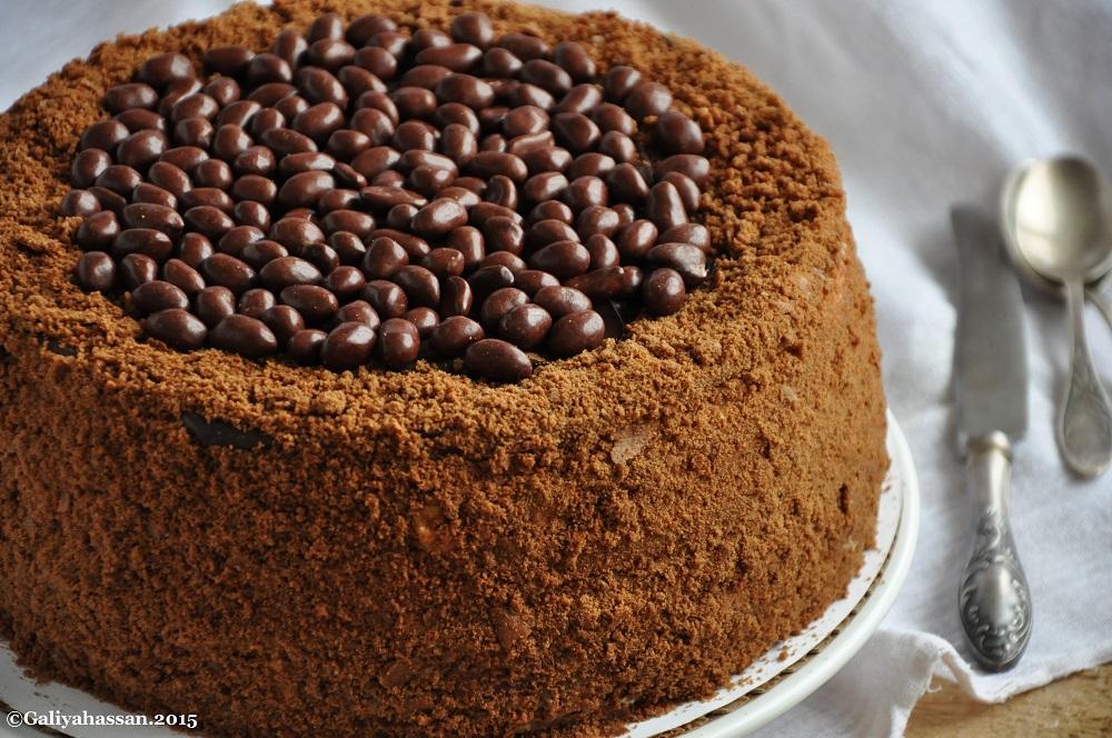 Рецепт медовика с шоколадным кремом