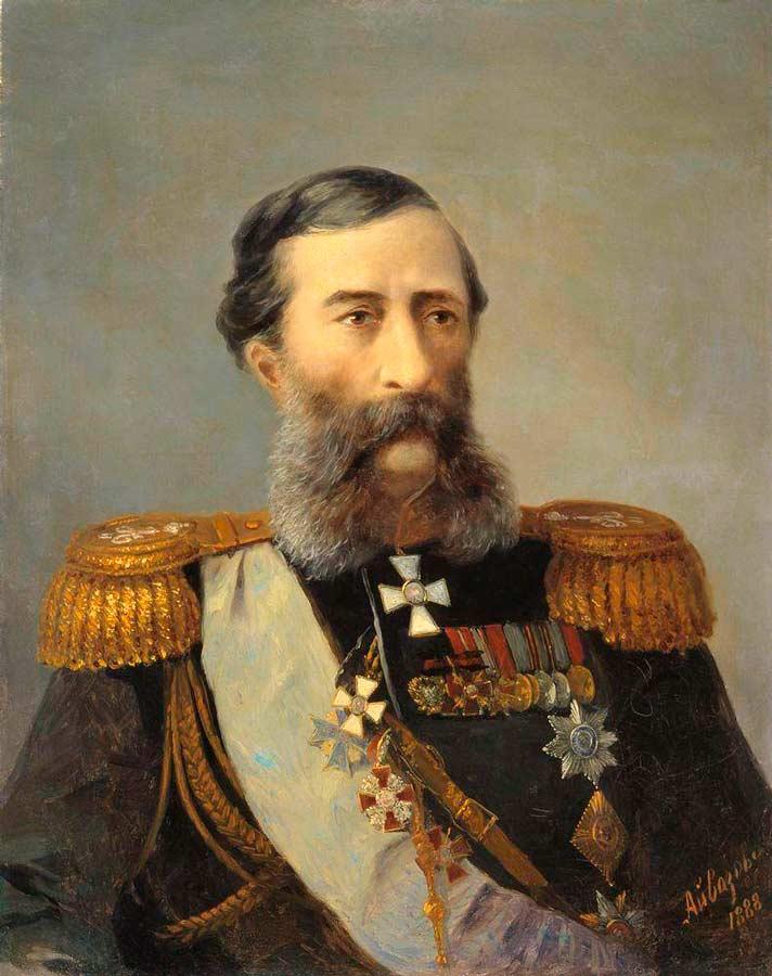 Михаил Тариелович Лорис-Меликов. Художинк И.К. Айвазовский. 1888 г.