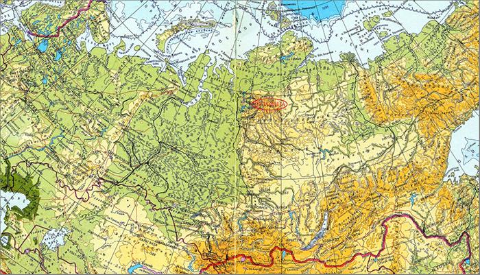 0_Путорана на карте россии