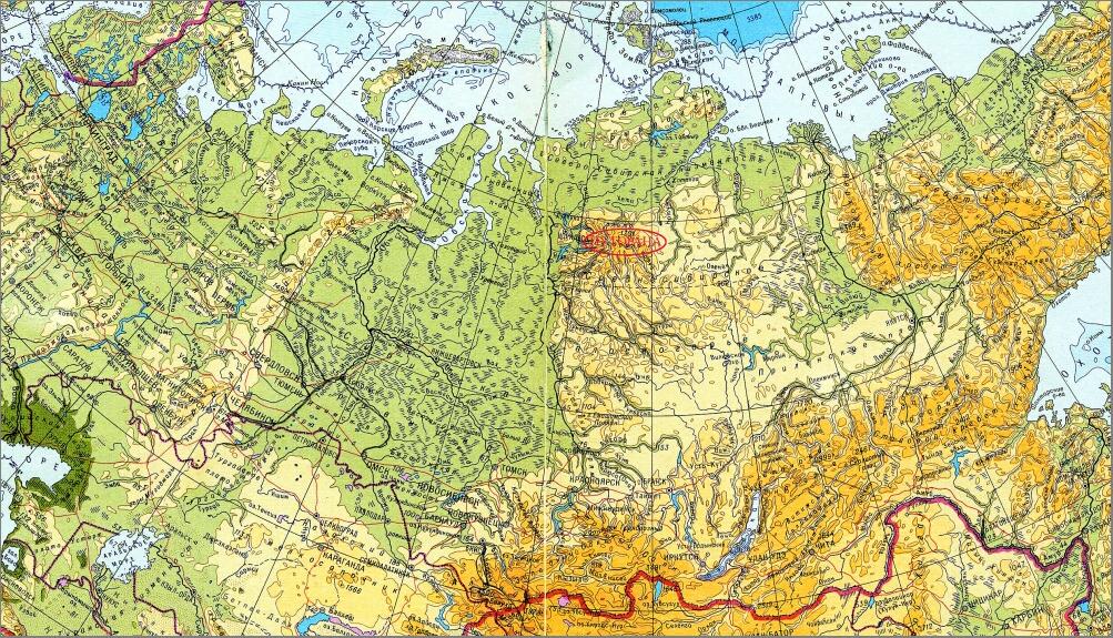 5_Путорана на карте россии