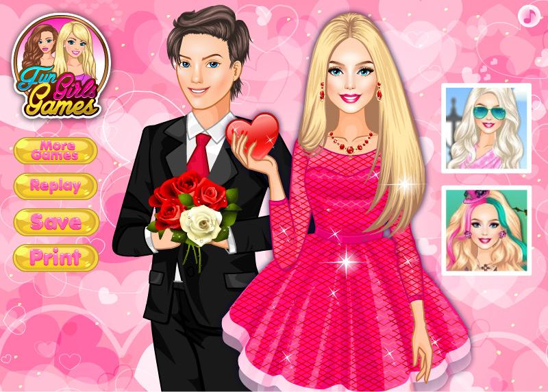 Одевалка Барби на Свидание в день Святого Валентина
