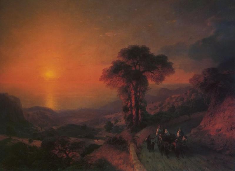 Вид моря с гор. Крым - 1864 год