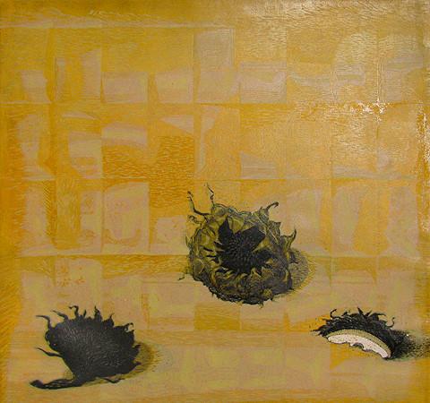 Подсолнухи. - 2003г. б., цв.линогравюра