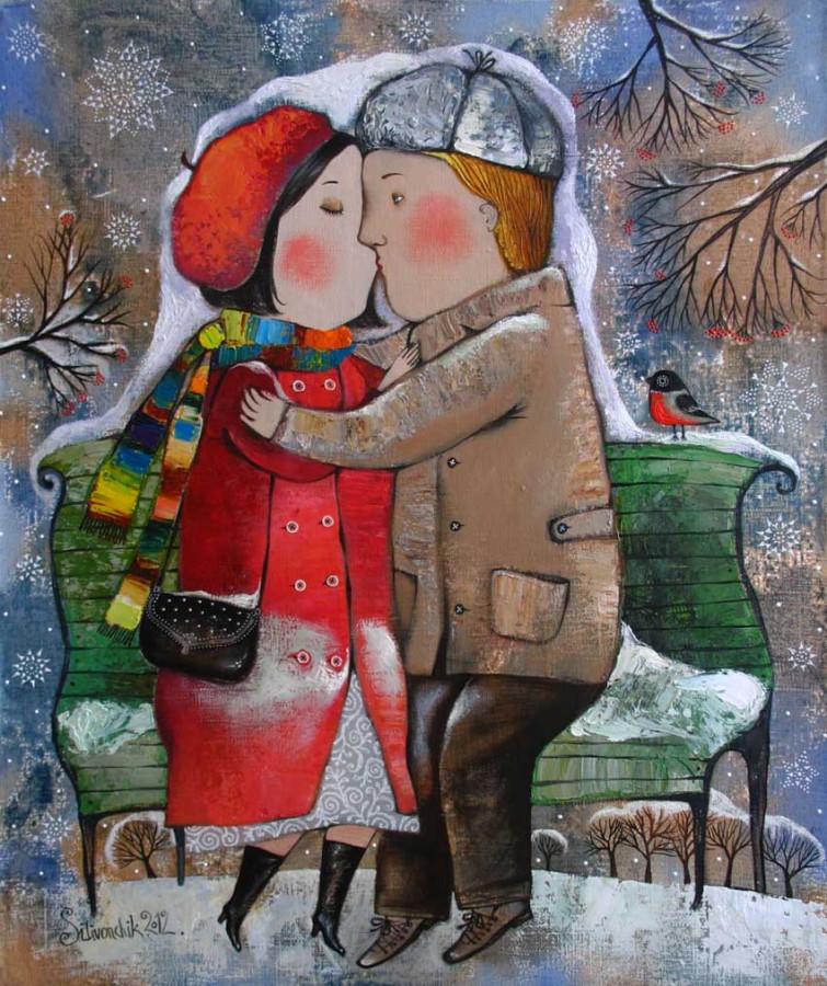 Долгий поцелуй .2012г. 60х50.