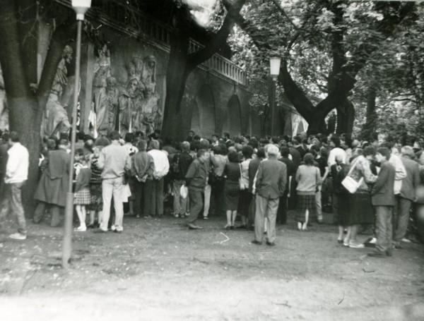 Молебен-митинг 17 июля 90г. Донской монастырь