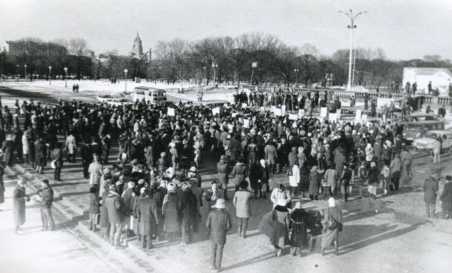 Общий вид митинга