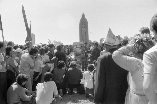 Установка памятника святому Сергию Радонежскому 29 мая 1988г