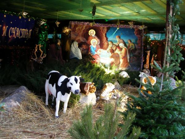 Донской мон., Вертеп,  Рождество 2007г.