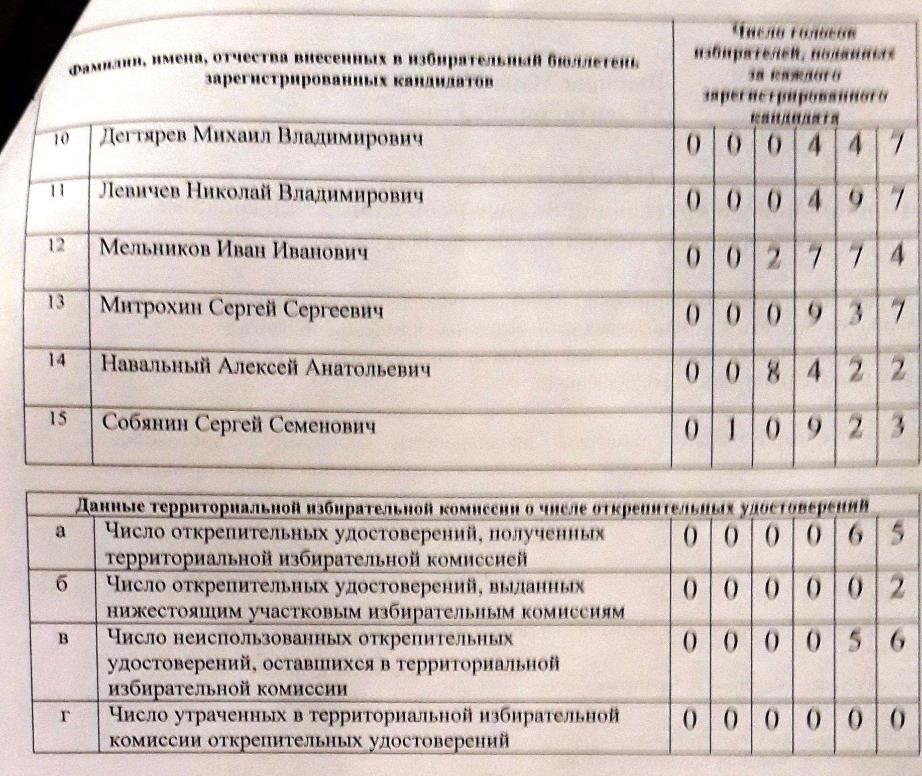 итоги голосования в ТН
