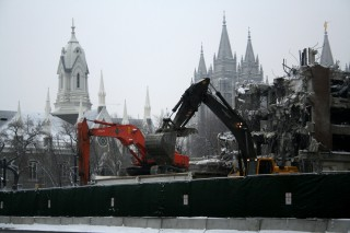 Tearing Down The Inn At The Temple In Salt Lake City