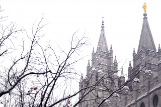 Moroni On Top Of Temple in Salt Lake City