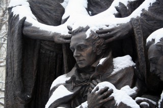Statue In The Temple Square