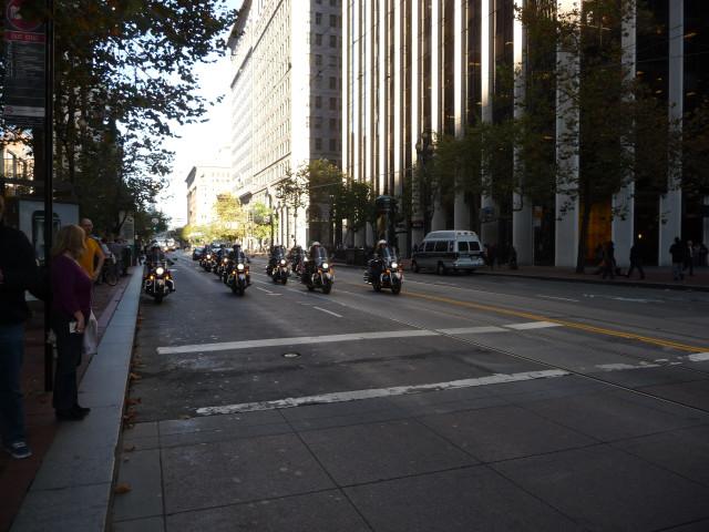 Охрана демонстрации полицией Сан-Франциско