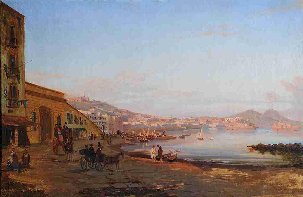 6 Джиганте Джачинто Gigante Giacinto 1806-1876 Берег в Сорренто около 1844 LJ