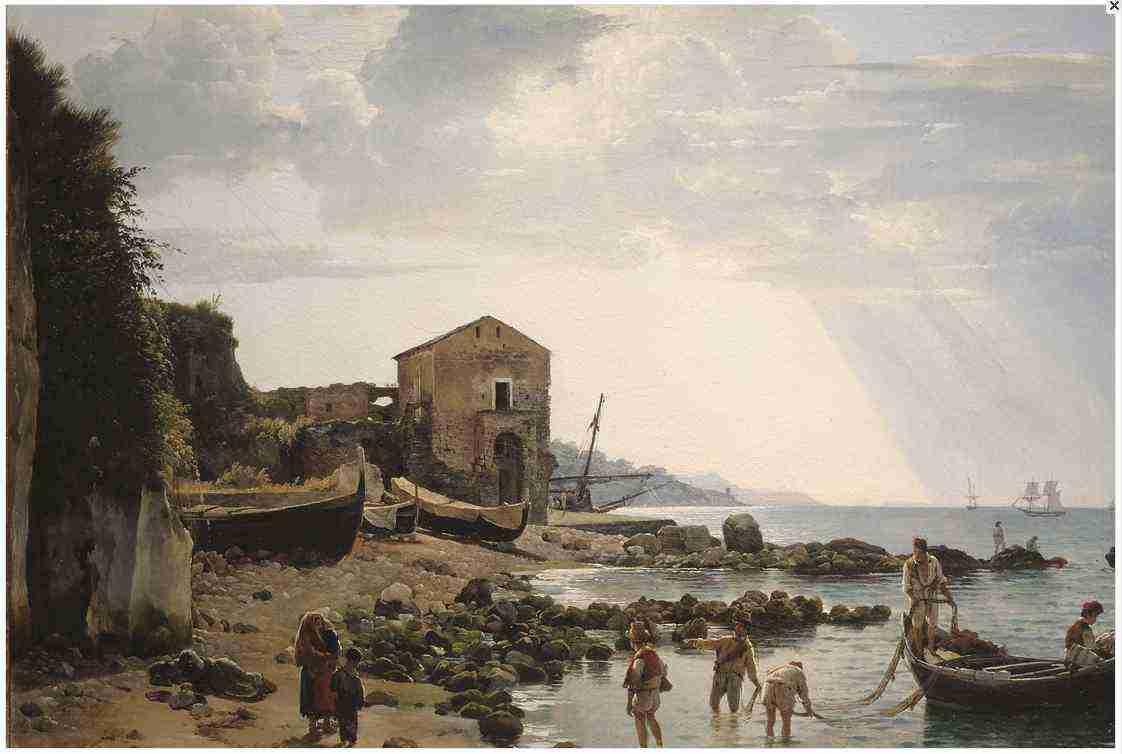 Щедрин. Малая гавань в Сорренто с видом на острова Искья и Прочидо