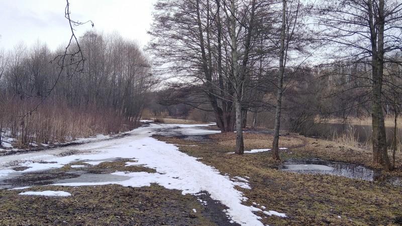 Впереди не очень приятный с мокрым снегом участок.