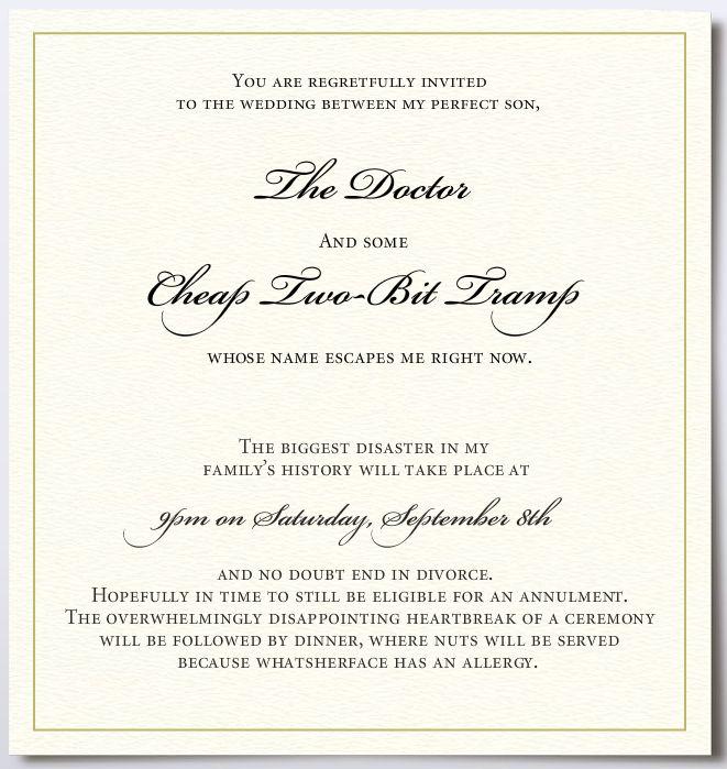приглашение на свадьбу от еврейской мамы