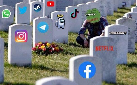 кладбище соцсетей