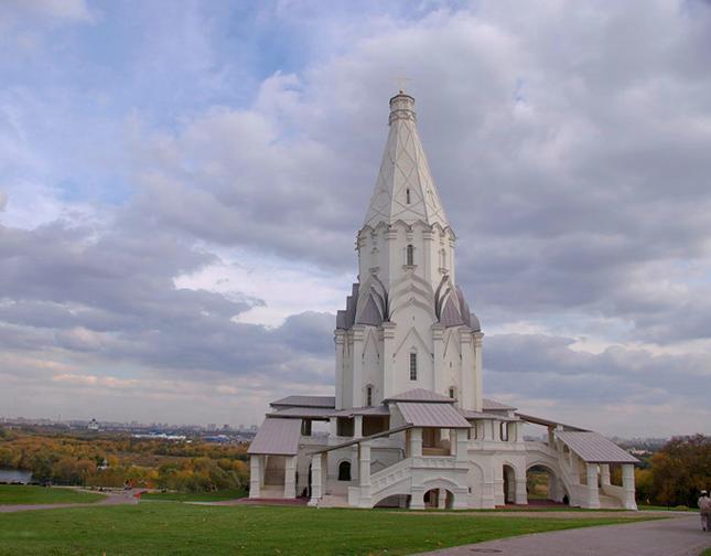 1. Церковь Вознесения в Коломенском 1532. Памятник ЮНЕСКО с 1994 г.