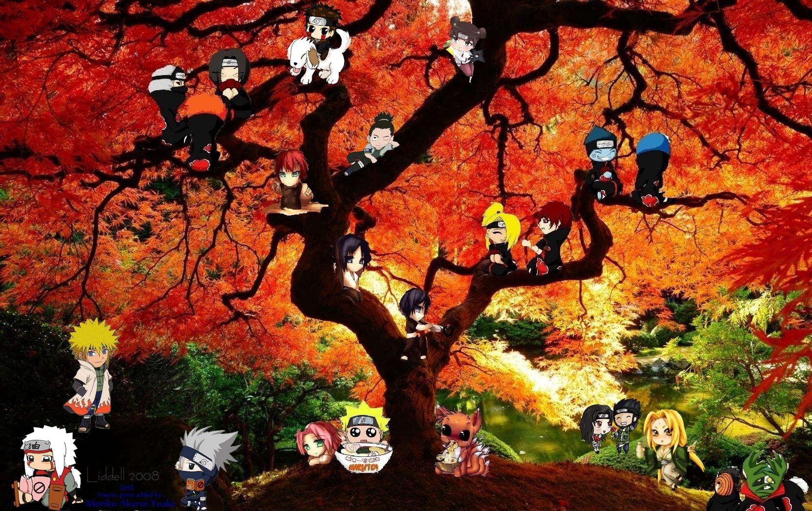 Naruto background I made - Moriko Yoake Gazette Jrock Stories! Gaara And Naruto Chibi