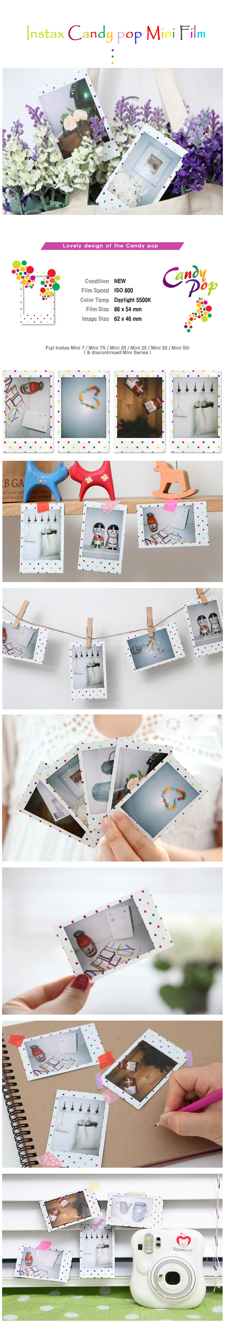 Candy Pop Polaroid Instax